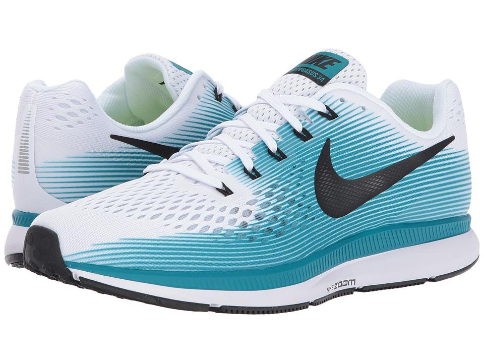 Nike Air Zoom Pegasus 34 (White/Black/Blustery) Men