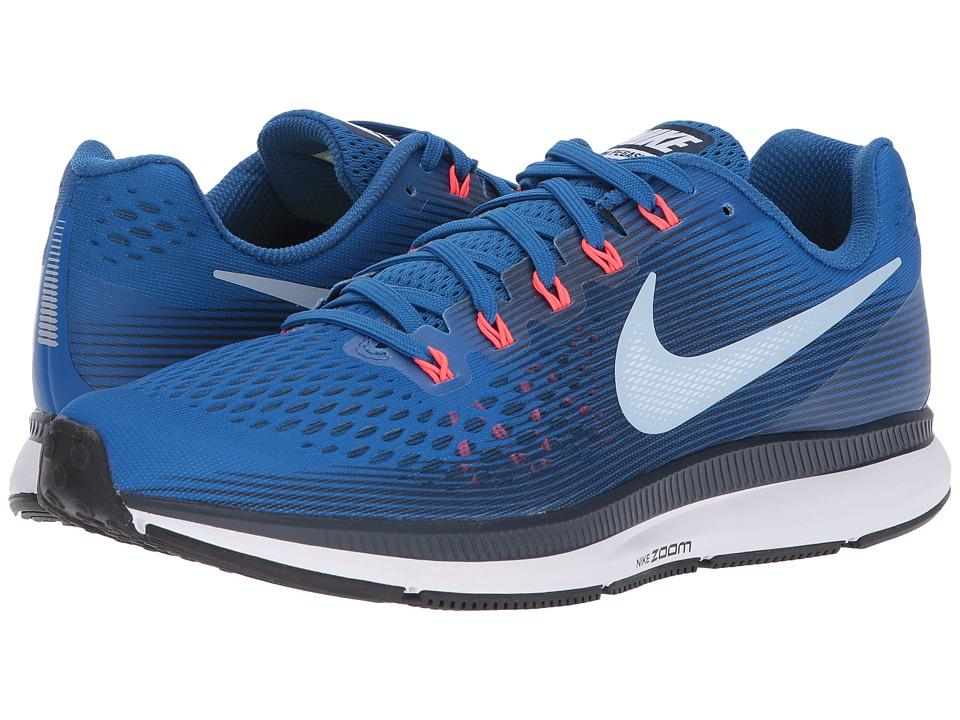 Nike Air Zoom Pegasus 34 (Blue Jay/Light Armory Blue/Obsidian) Men