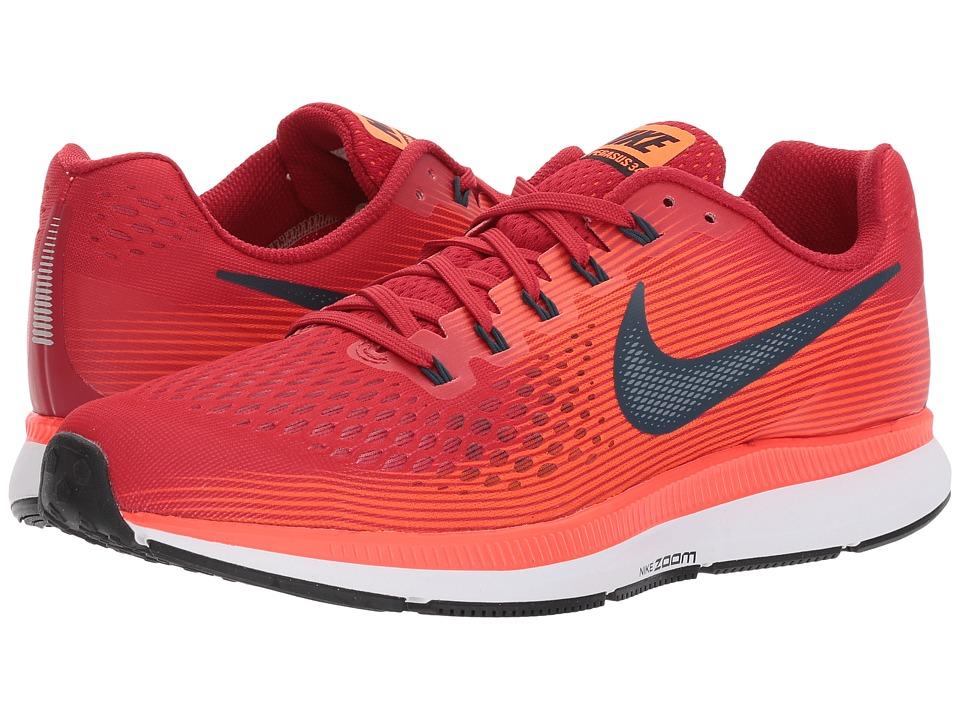 Nike Air Zoom Pegasus 34 (Gym Red/Armory Navy/Total Crimson) Men