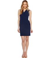 Adrianna Papell - Stretch Crepe Lapel Blazer Sheath Dress