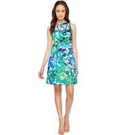Adrianna Papell - Printed Stretch Cotton A-Line Shift Dress