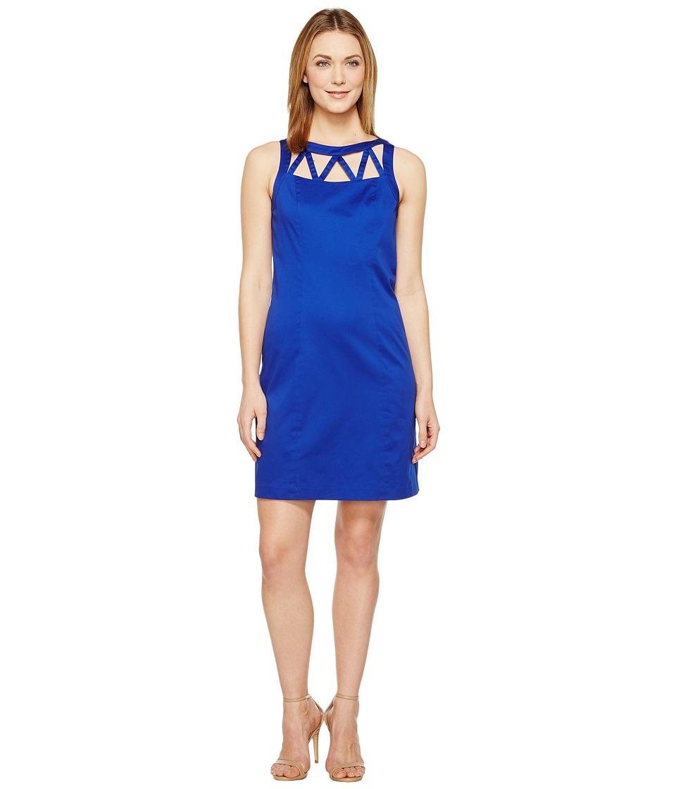 Adrianna Papell - Stretch Cotton A-Line Shift Dress