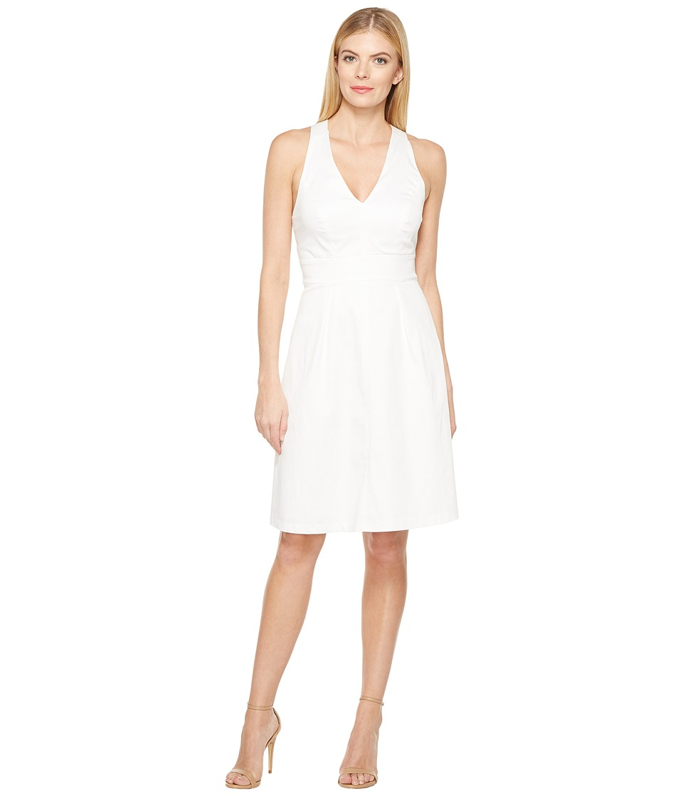 Adrianna Papell - Stretch Cotton Fit and Flare Dress
