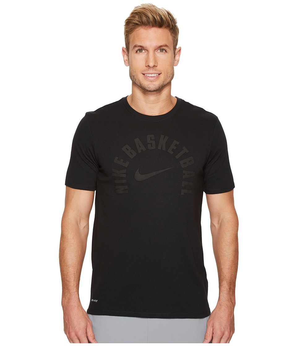 Nike Dry Core Practice Basketball T-Shirt (Black/Black) Men