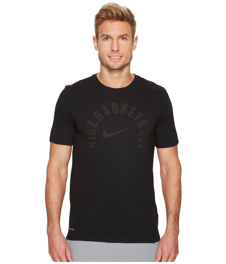 Nike Dry Core Practice Basketball T-Shirt (Black/Black) Men