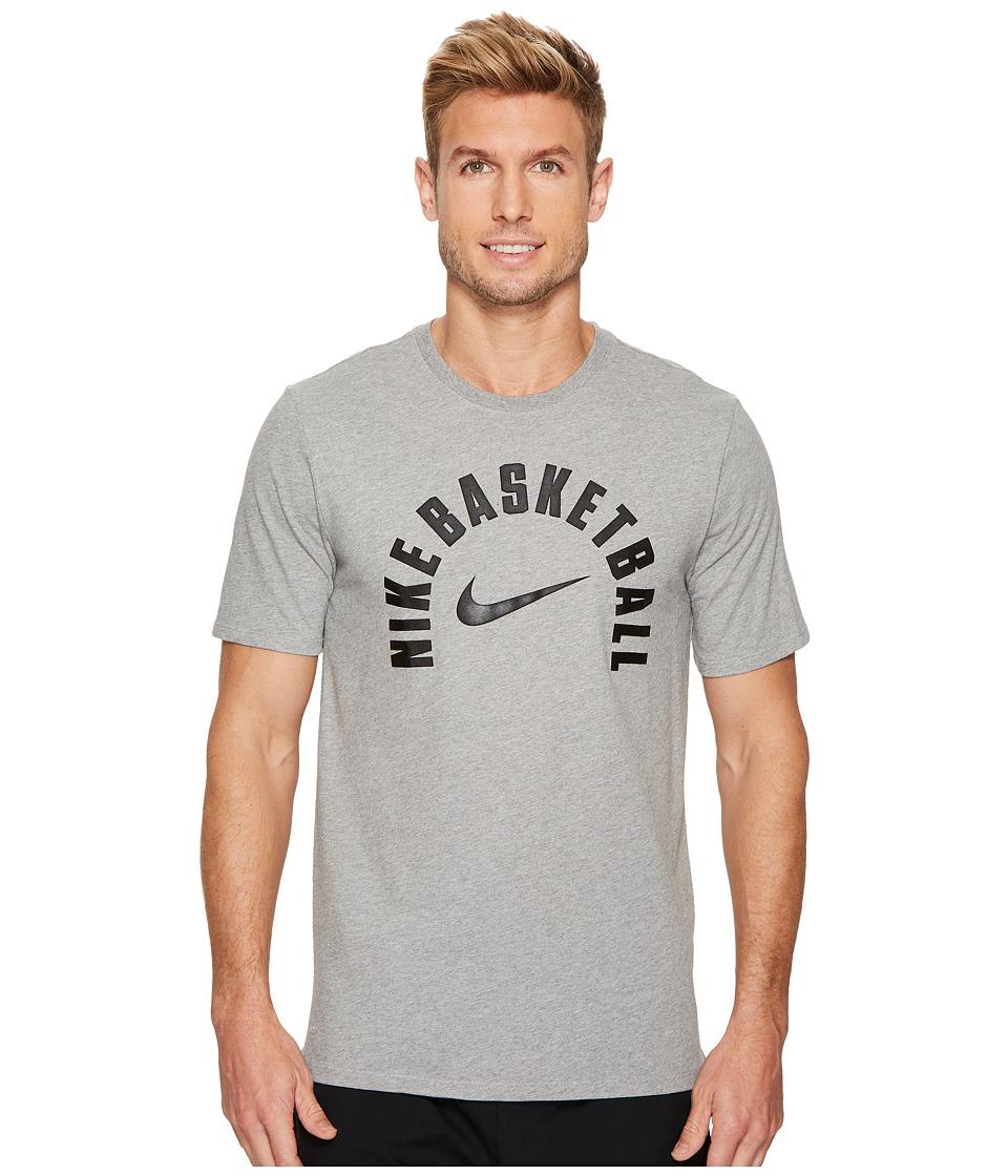 Nike Dry Core Practice Basketball T-Shirt (Dark Grey Heather/Dark Grey Heather) Men