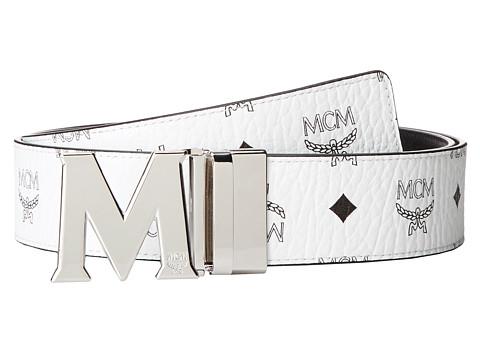MCM Claus Reversible Silver Buckle Belt
