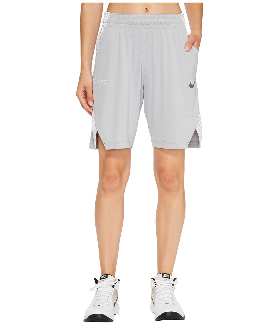 Nike Dry Elite 9 Basketball Short (Wolf Grey/White/Cool Grey/Cool Grey) Women