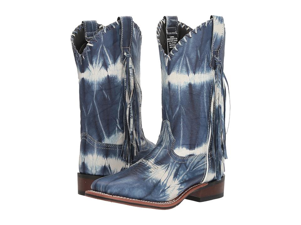 Laredo 1970 (Blue/White Tie-Dye) Cowboy Boots