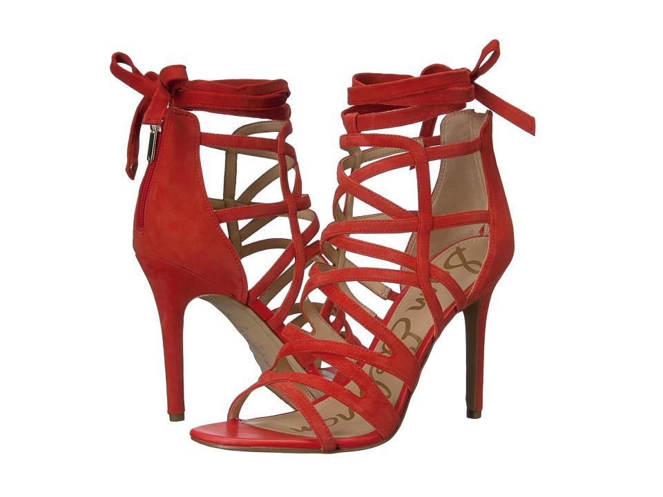 Sam Edelman Alba (Havana Red Kid Suede Leather) Women