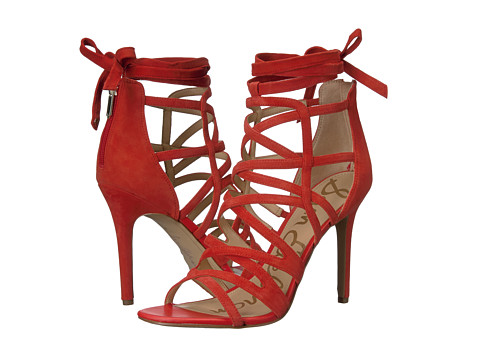 Sam Edelman Alba - Havana Red Kid Suede Leather