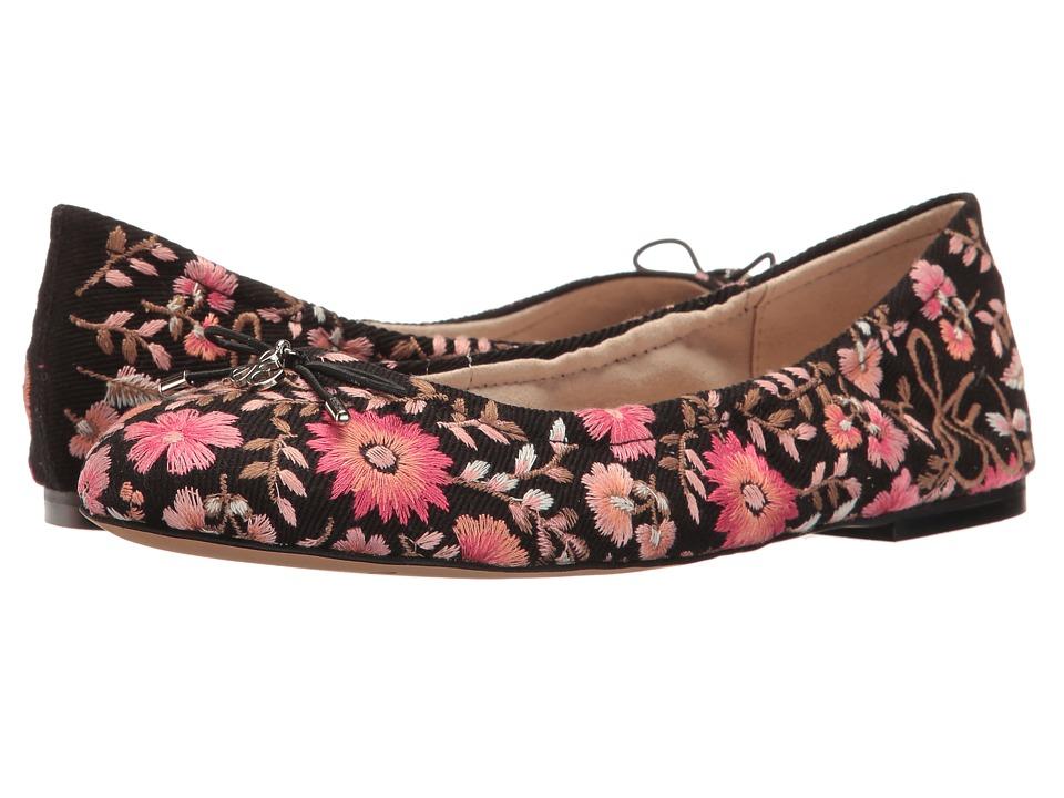 Sam Edelman Felicia 3 (Black Canvas/Pink Multi Maya Floral Embroidery) Women
