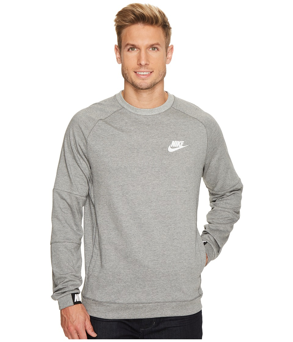 Nike Sportswear Advance 15 Crew (Dark Grey Heather/Black/White) Men