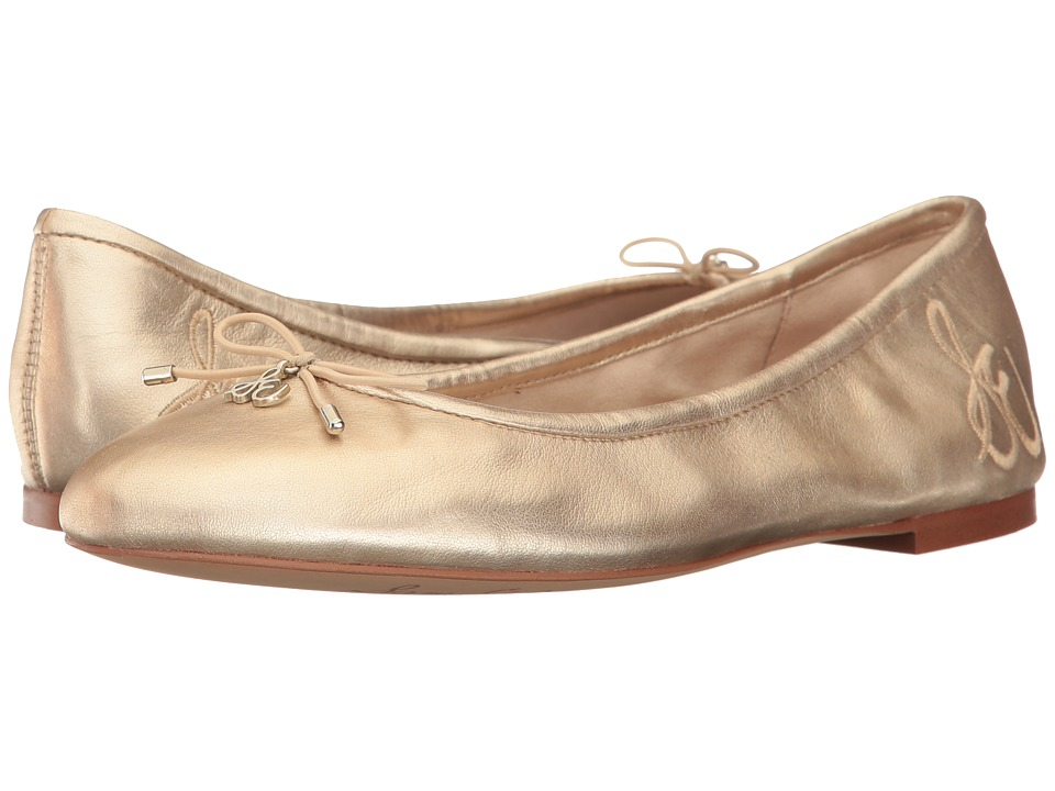 Sam Edelman Felicia (Molten Gold Soft Metallic Sheep Leather) Flats