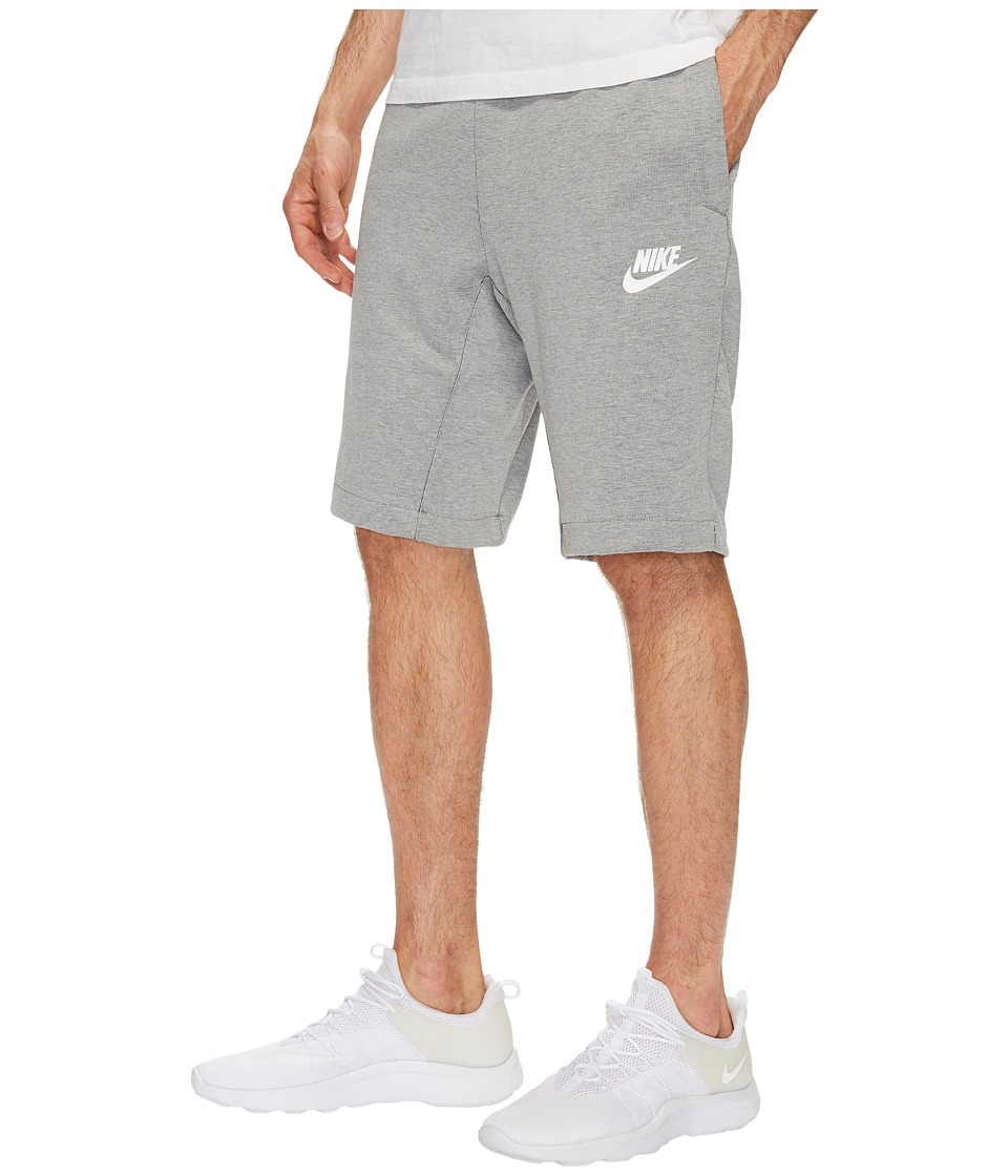 Nike Sportswear Advance 15 Short (Dark Grey Heather/Black/White) Men