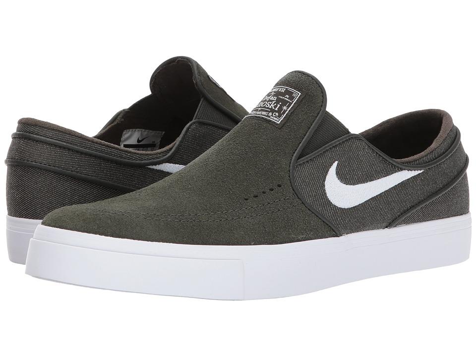 Nike SB Zoom Stefan Janoski Slip-On (Sequoia/White) Men