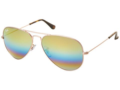 Ray-Ban RB3025 Original Aviator 58mm - Light Bronze/Gold/Blue/Green Rainbow Mirror