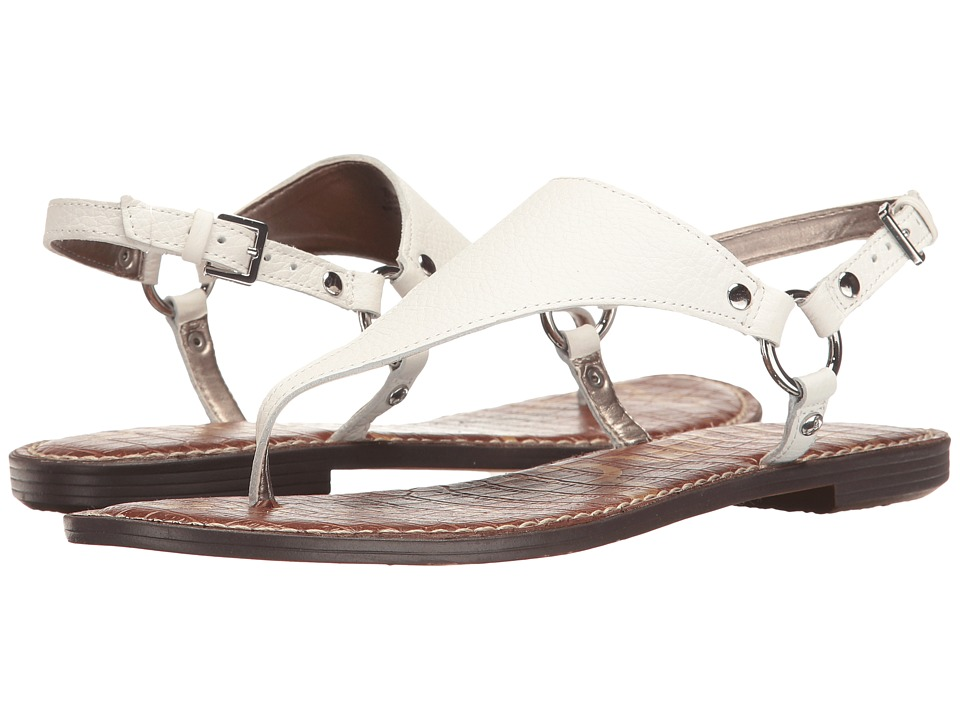 Sam Edelman Greta (Bright White Neymar Tumbled Leather) Sandals