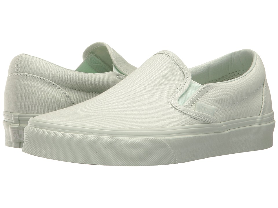 Vans Classic Slip-On ((Mono Canvas) Milky Green) Skate Shoes