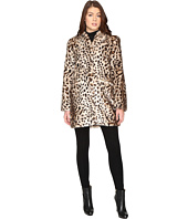 Via Spiga - Front Zip Faux Fur Party Coat