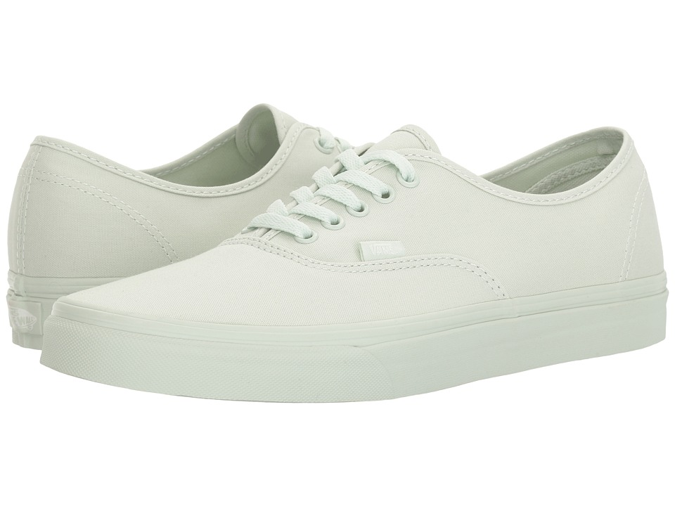 Vans Authentictm ((Mono Canvas) Milky Green) Skate Shoes