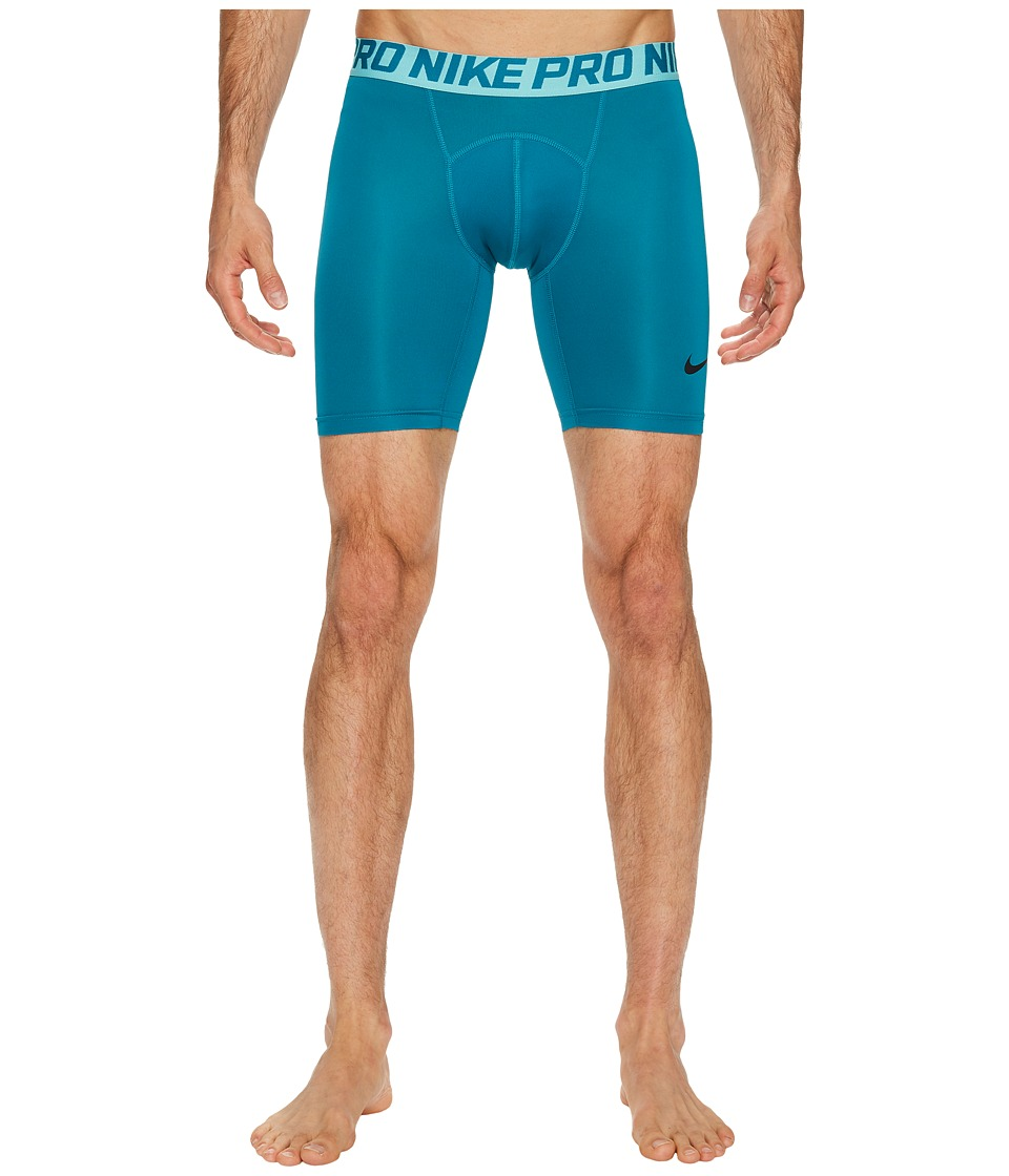 "Nike Pro Cool Compression 6"" Short (Bluestery/Light Aqua/Black) Men"