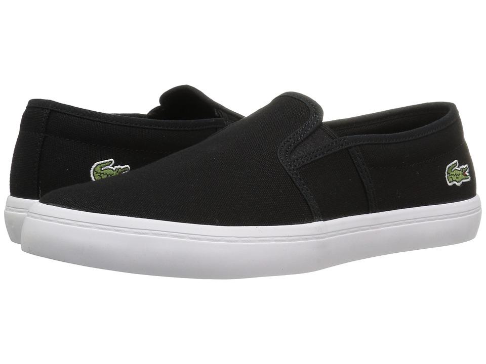 Lacoste - Gazon BL 2 Canvas (Black) Womens Shoes