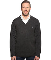 U.S. POLO ASSN. - Big & Tall Long Sleeve V-Neck Soft Acrylic
