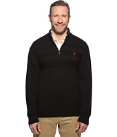U.S. POLO ASSN. - Long Sleeve 1/4 Zip Chest Texture