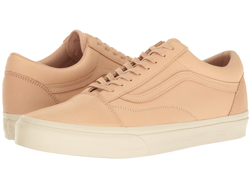 Vans Old Skool DX ((Veggie Tan Leather) Tan) Skate Shoes