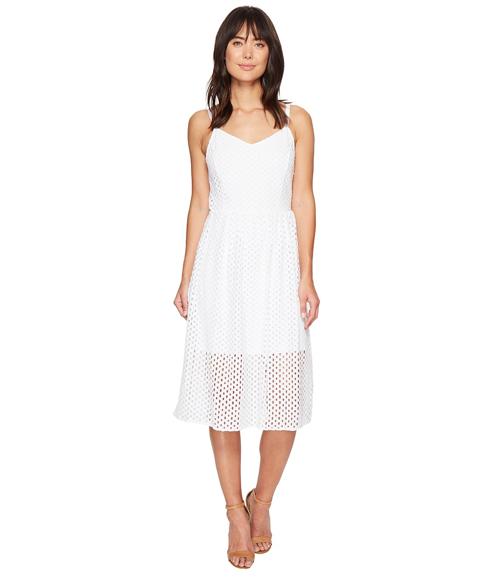 kensie Open Mech Lace Dress KS4K7686 (White) Women