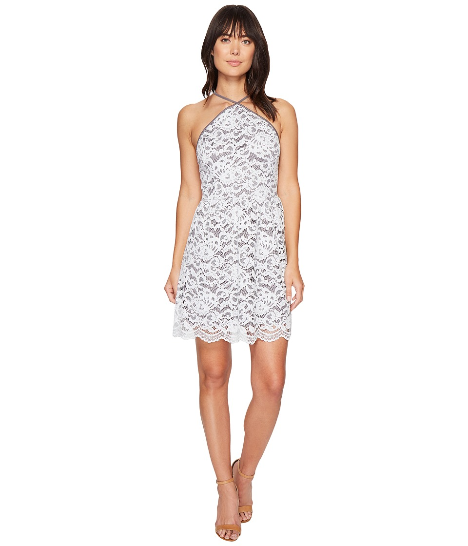 kensie Poetic Lace Dress KS4K7973 (Grey Dusk Combo) Women