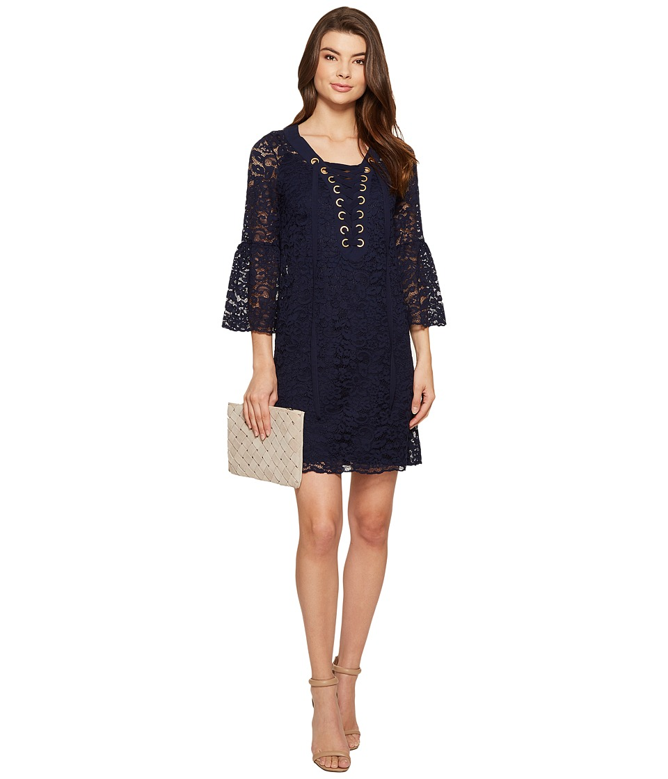 kensie Femme Lace Dress KS5K7571 (Darkest Navy) Women