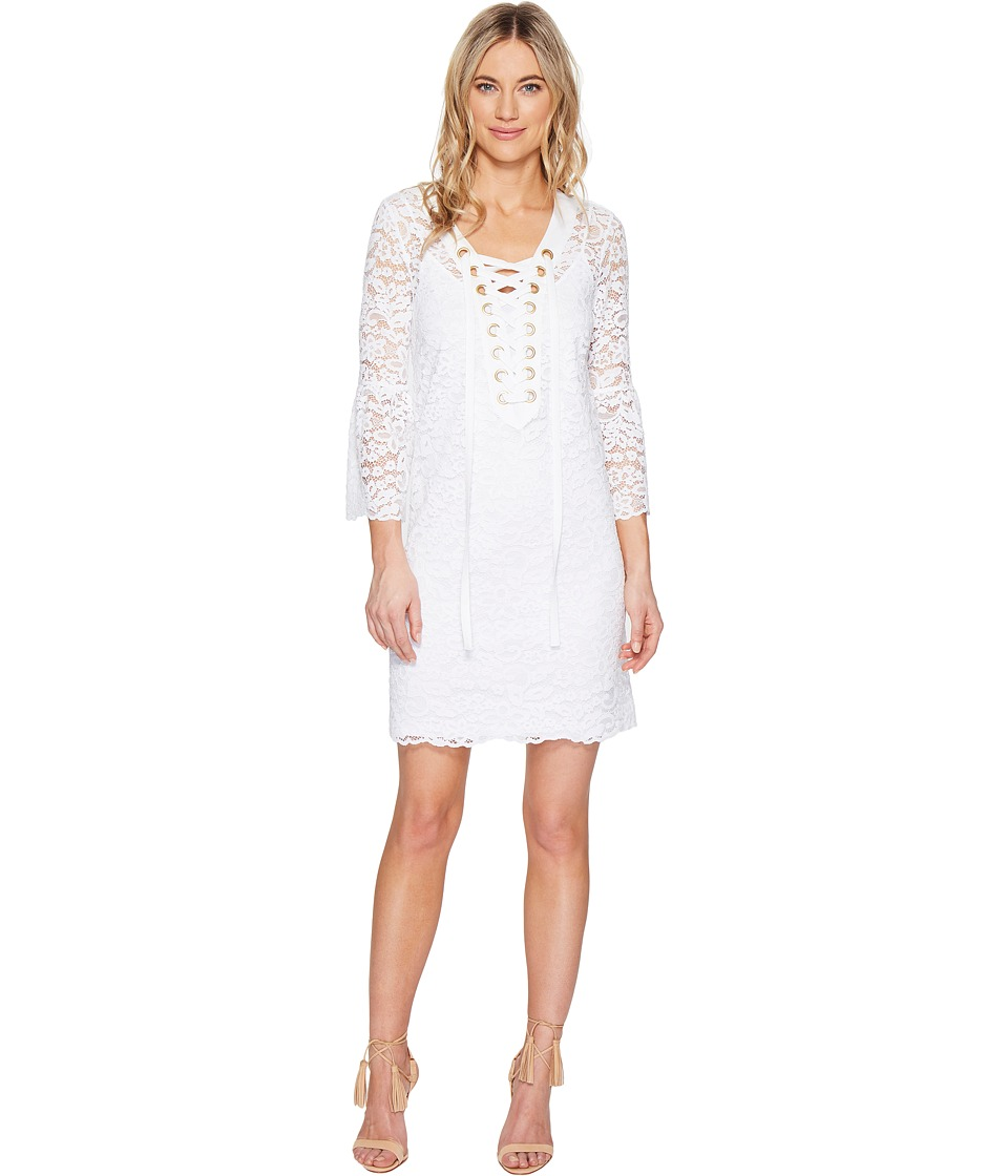 kensie Femme Lace Dress KS5K7571 (White) Women