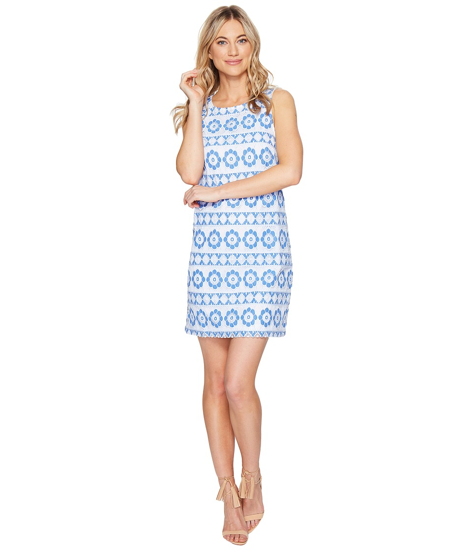 kensie Full Bloom Lace Dress KS3K7731 (Vivid Blue Combo) Women