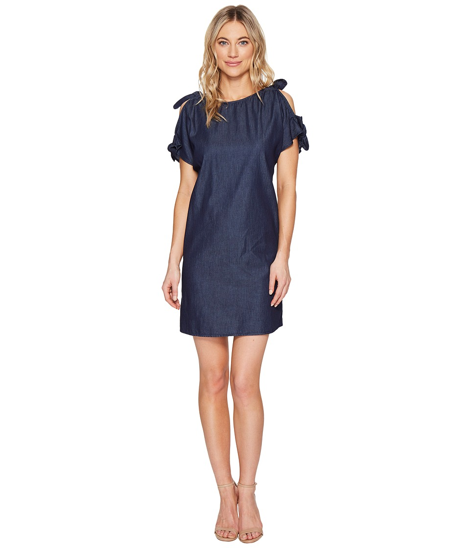 kensie Lightweight Chambray Dress KS5U7S03 (Dark Indigo) Women