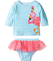 Mud Pie - Flamingo Rashguard Bikini Set (Toddler)
