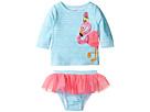 Mud Pie - Flamingo Rashguard Bikini Set (Toddler)