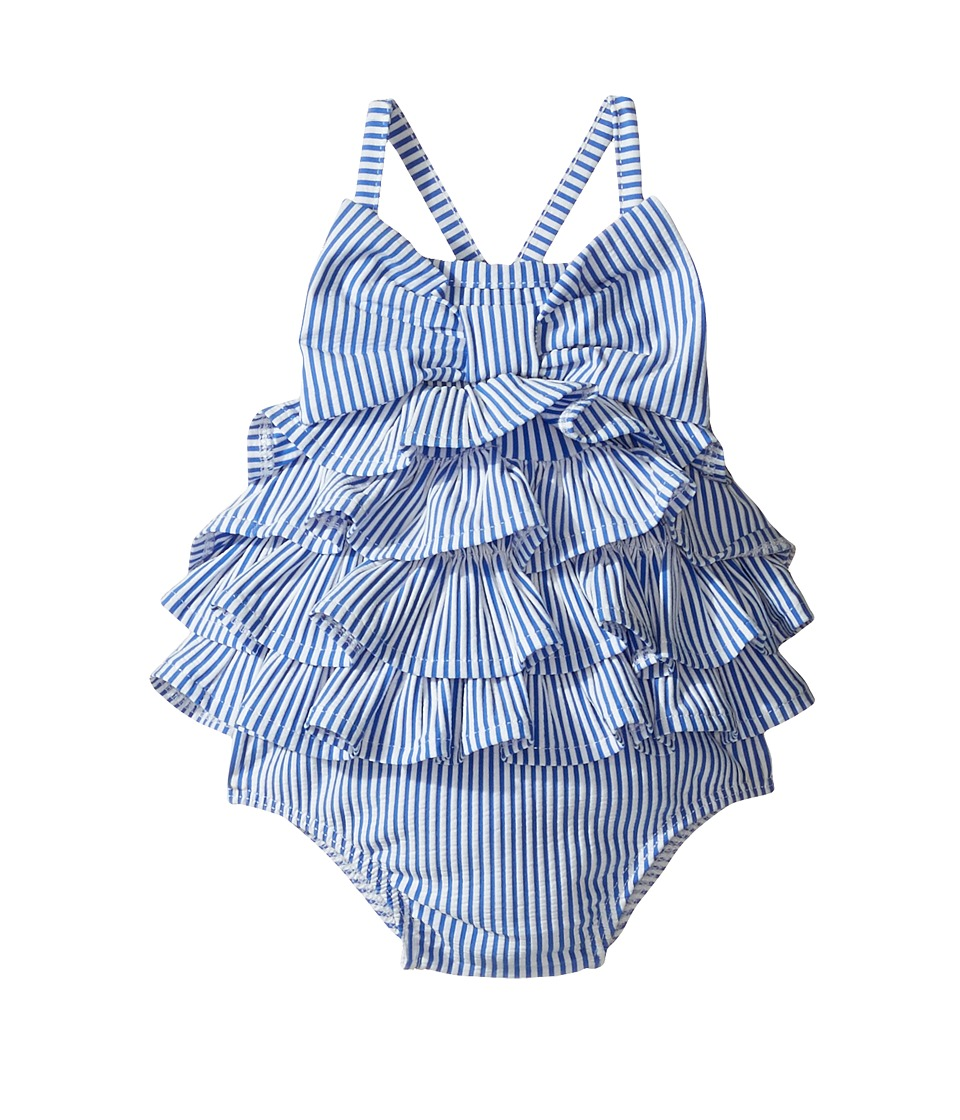 Mud Pie - Seersucker Ruffle Bow Swimsuit