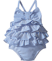 Mud Pie - Seersucker Ruffle Bow Swimsuit (Infant)