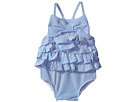 Mud Pie - Seersucker Ruffle Bow Swimsuit (Infant/Toddler)