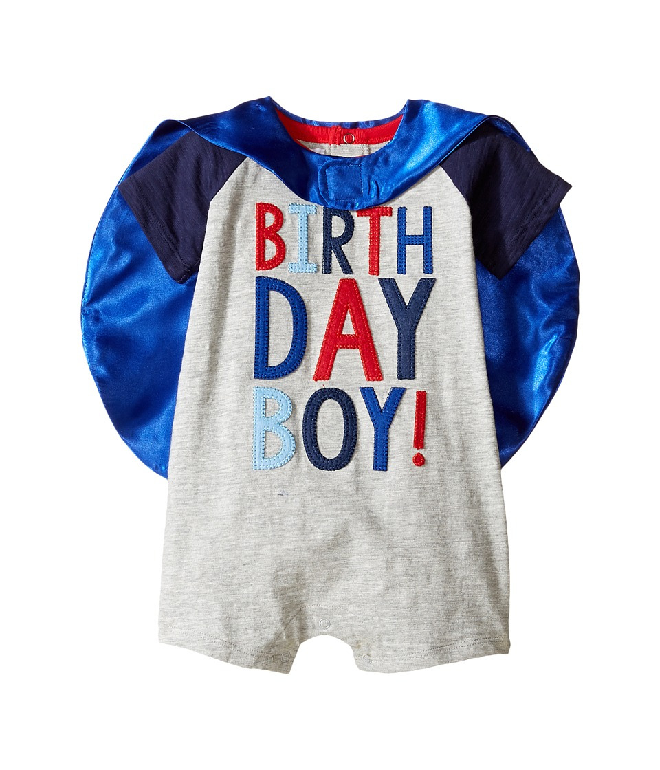 Mud Pie - Birthday Boy Cape One-Piece (Infant) (Blue) Boys Jumpsuit & Rompers One Piece