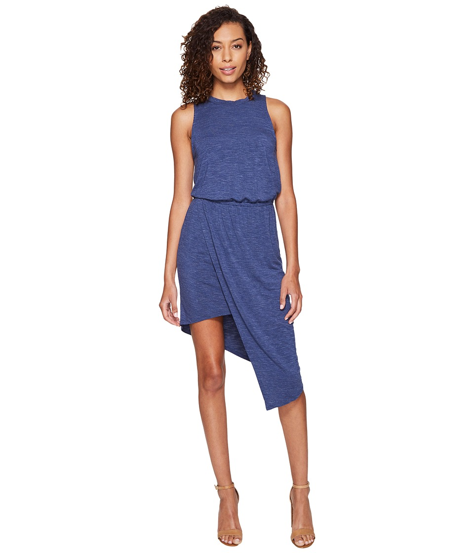 Splendid Heathered Asymmetrical Dress (Moonlight Blue) Women