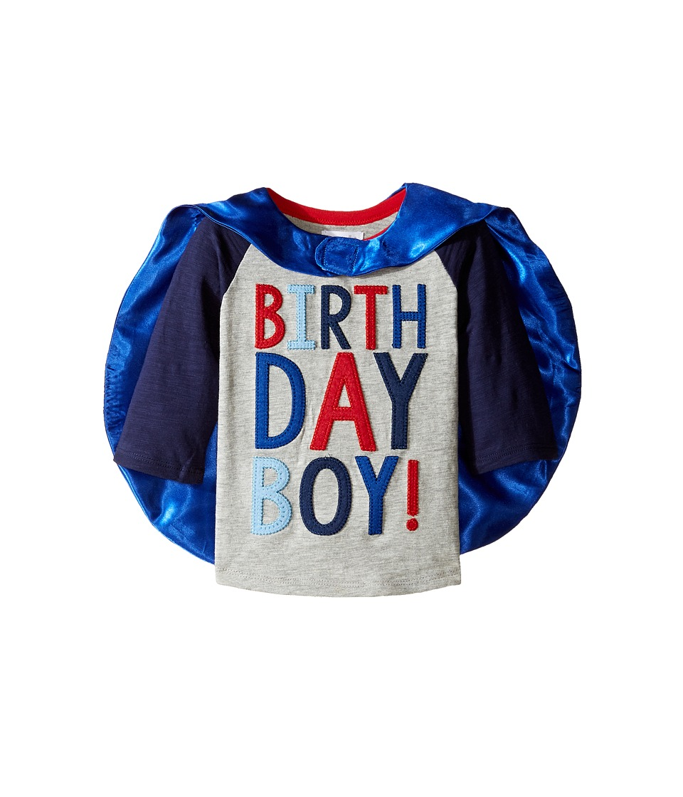 Mud Pie - 2 Birthday Boy Cape T-Shirt (Toddler) (Blue) Boys T Shirt