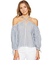Rebecca Taylor - Off the Shoulder Yarn-Dye Stripe Top