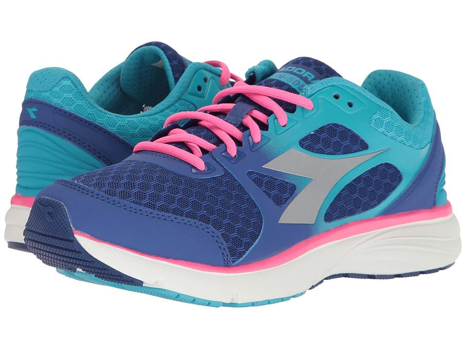 Diadora - Run 505 (Ultramarine/Pink Fluo) Womens Shoes