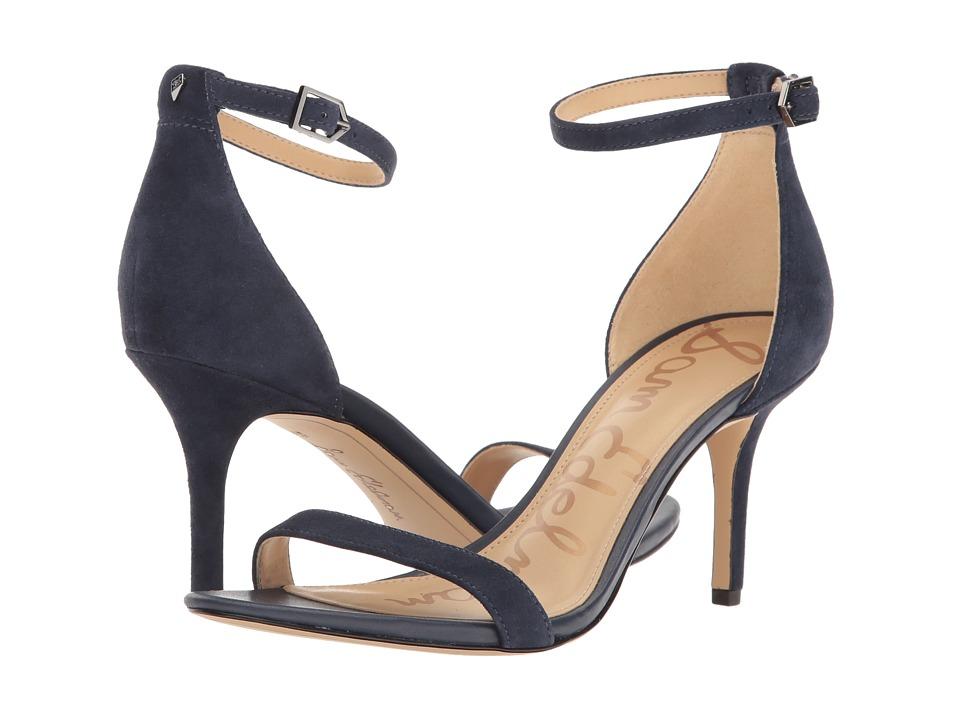 Sam Edelman Patti (Inky Navy Kid Suede Leather) High Heels