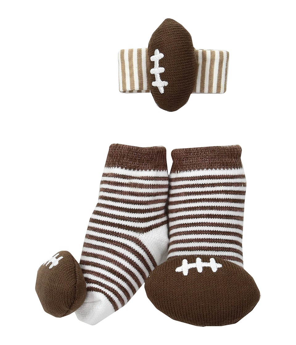 Mud Pie - Football Wrist Rattle Sock Set