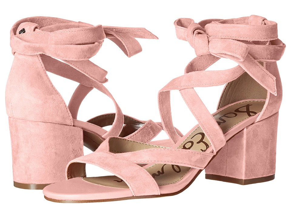 Sam Edelman - Sheri (Pink Kid Suede Leather) Womens 1-2 inch heel Shoes