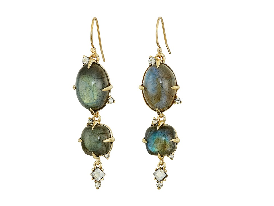 Alexis Bittar - Multi Stone Wire with Satellite Crystal Drop Earrings (10K Gold) Earring